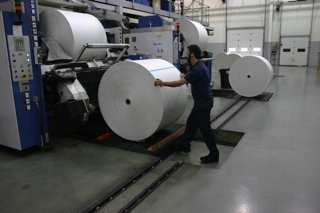 ET manual roll track loading roll paper