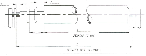 drop-in chain assist roller dimnesions diagram